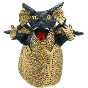 Black Dragon in Egg Hatching Puppet