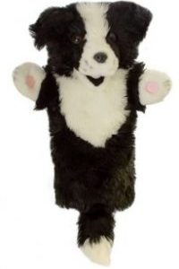 Border Collie Long Sleeve Dog Puppet