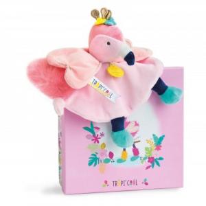 DouDou et Compagnie Flamingo Baby Comforter Toy