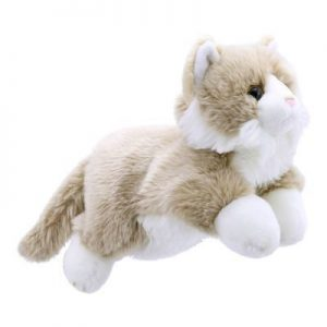 Beige and White Full Bodied Cat Puppet