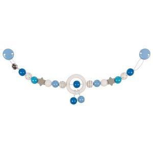 Heimess Pram Toy Wooden Blue and Grey Star Chain