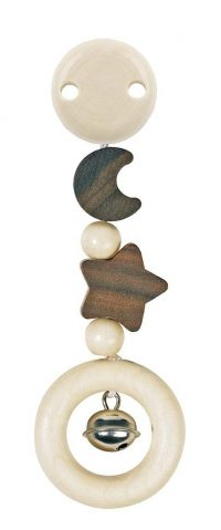 Heimess Clip On Moon and Star Pram Wooden Toy