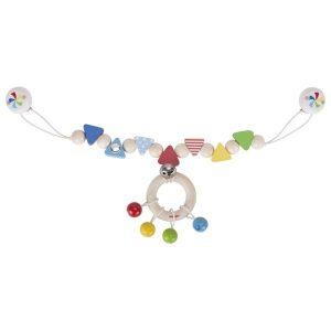 Heimess Confetti Wooden Pram Chain Toy Baby Toy