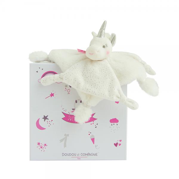 Doudou et Compagnie Unicorn Baby Comforter Toy