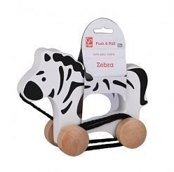 Hope Push and Pull Wooden Toy Zebra