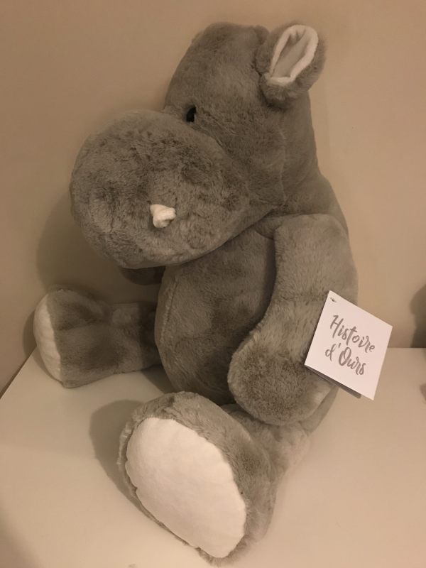Large Hippo Soft Toy