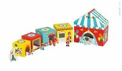 Janod Circus Stacking Blocks and Wooden Figures