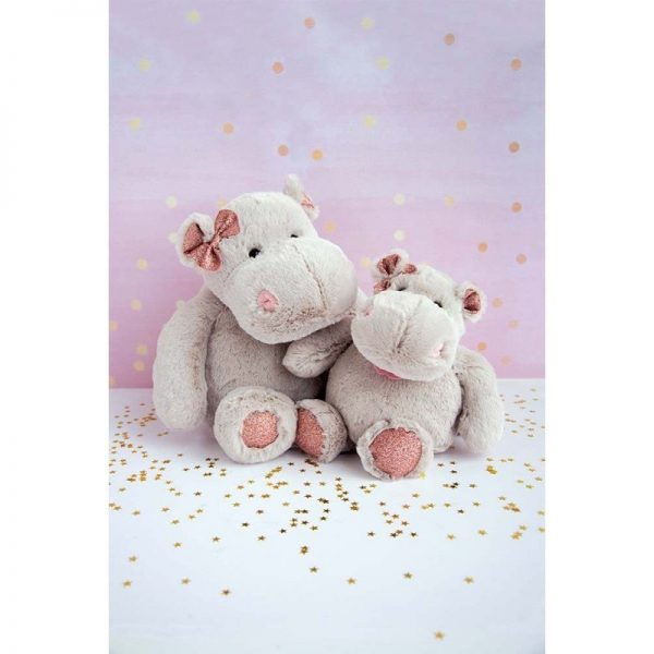 Histoire d'Ours 25cm Sparkle Hippo Girl's together