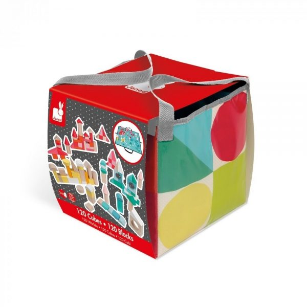 Janod Wooden Blocks in Fold Away Carry Bag