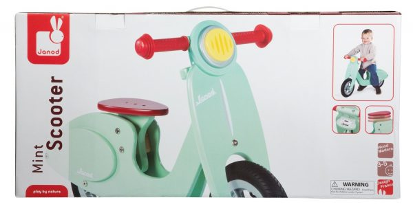 Janod Mint Scooter in box