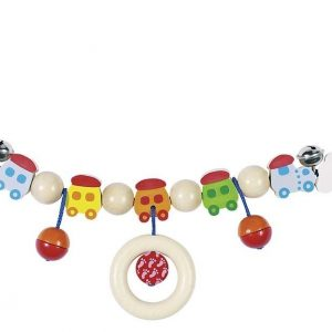 Heimess Pram Toy Wooden Trains Chain