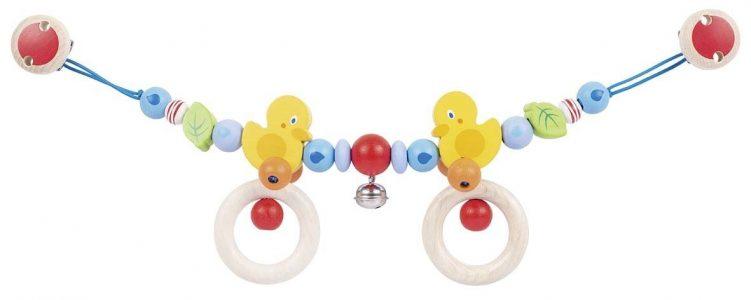 Heimess Pram Toy Wooden Duck Chain