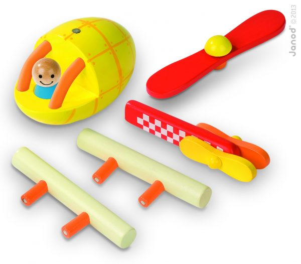 Janod Wooden Helicopter Manget Kit