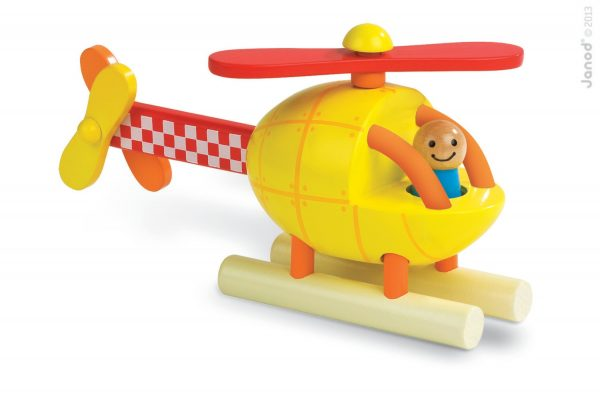Janod Wooden Helicopter Magnet Kit Toy