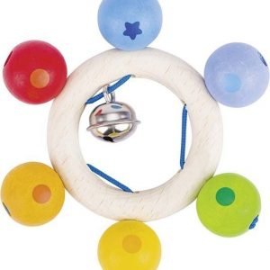 Heimess Soft Colours Touch Ring Rainbow Pearls Wooden Baby Toy S