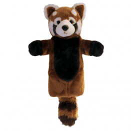 Red Panda Long Sleeved puppet from The Puppet Company