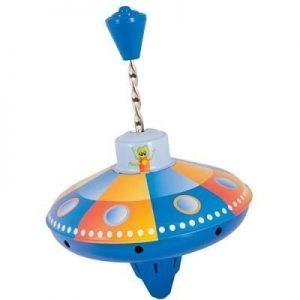 Metal Spinning Humming Top UFO Design