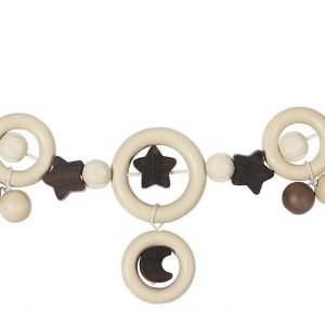 Heimess Pram Toy Wooden Moon and Star Chain