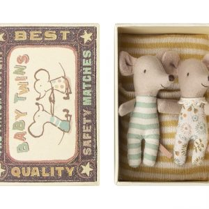Maileg Matchbox Mice Baby Twins