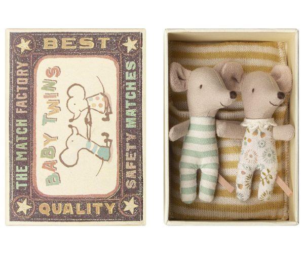 Maileg Matchbox Mice Baby Twins