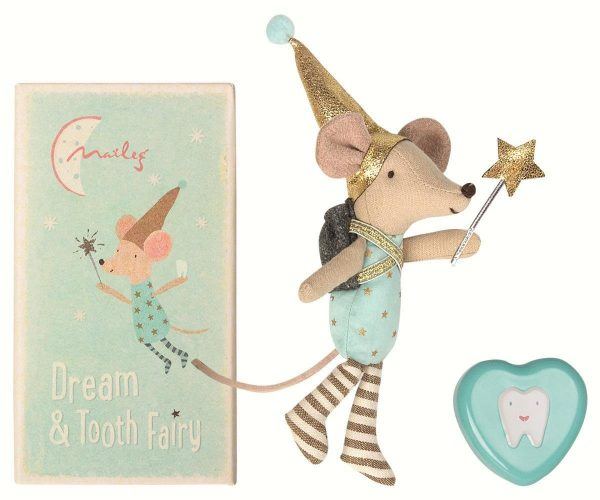 Maileg Boy Tooth and Dream Fairy in Box with Metal Heart