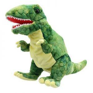 Green Baby Dino T-rex Puppet