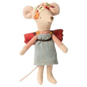 Maileg Hiker Mouse Girl from Happy Campers collection