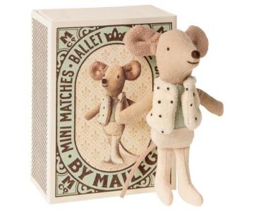 Maileg Little Brother Dancer Mouse Ballerina Boy in Matchbox