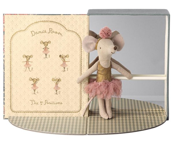 Maileg Dance Room with Big Sister Dance Mouse Ballerina